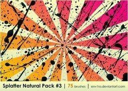 75 Splatter Photoshop Brushes Pack « Hicham Benelkaid Blog | ahmed123 | Scoop.it