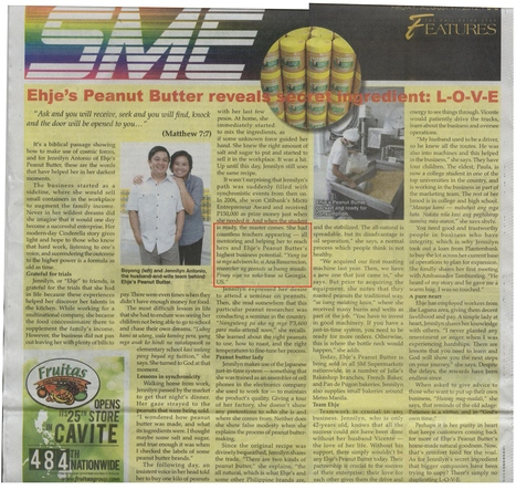 The story of Ehje, Peanut Butter Manufacturer--  Technology transfer via USAID Peanut CRSP | Anna V.A. Resurreccion, Ph.D., CFS  International Food Security, Food Product-Process Development and Innovation, Food Business Development | Scoop.it