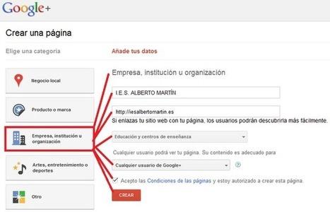 Crea y Aprende con Laura: Cómo crear una página de Google + para tu centro educativo | Tecnología Educativa S XXI | Scoop.it