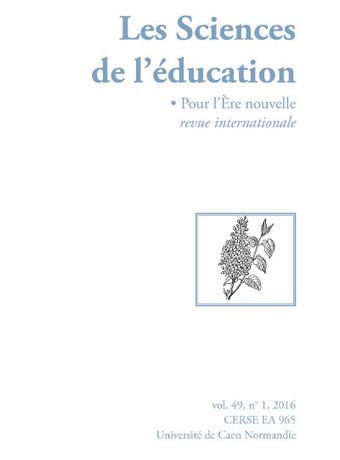 Les Sciences de l'éducation - Pour l'Ère nouvelle, vol. 49, n° 1, 2016 | VeilleÉducative - L'actualité de l'éducation en continu | Scoop.it