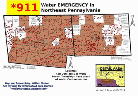 911 -- Emergency! Water contamination map NE PA - Bill Huston's ... | Plant Based Transitions | Scoop.it
