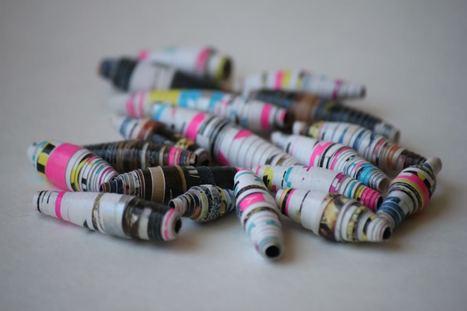 Perle in carta per orecchini fai da te | Orecchini Fai da Te: i migliori tutorial | Scoop.it