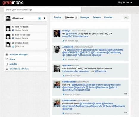 Gérer Twitter, Facebook et LinkedIn depuis un même service avec GrabInbox | Référencement internet | Scoop.it