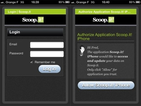 Scoop.it est maintenant disponible sur iPhone | mlearn | Scoop.it