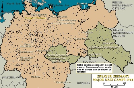 Map of Concentration Camps in Germany | The Four Perfect Pebbles: Germany | Scoop.it