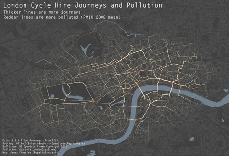 London Cycle Hire and Pollution | PIE Mapping, data, routing and logistics | Scoop.it