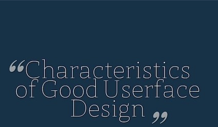 Characteristics of A Great User Interface Design - Best Practices and Tutorials   Design & Prog   Scoop.it