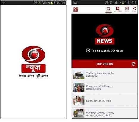 Prasar Bharti launches the official DD News app | Mobile Apps | Scoop.it