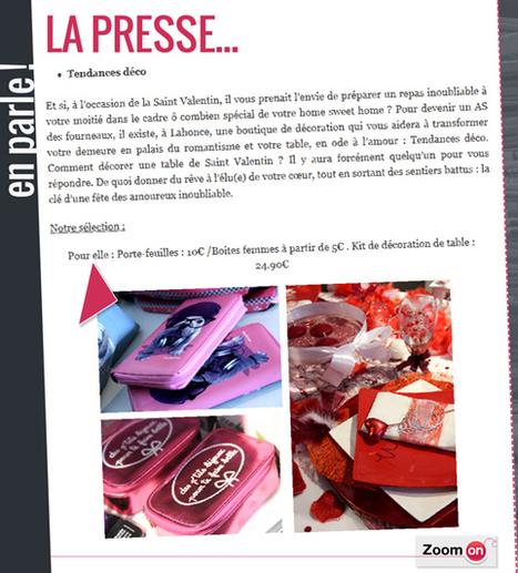 Zoom on parle de la boutique Tendances déco sur son blog officiel ! | Actualités de la boutique Tendances déco | Scoop.it