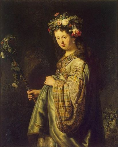 File:Rembrandt - Saskia as Flora - WGA19174.jpg - Wikimedia Commons | English Project - The Night Watch | Scoop.it