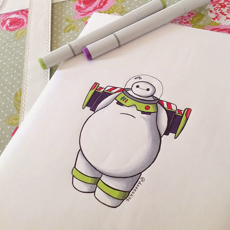 Illustrator Reimagines #Baymax As Famous #Disney Characters | Design Ideas | Scoop.it