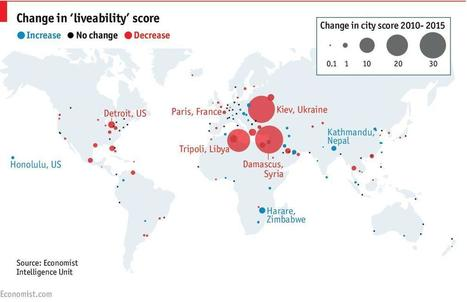 Change in 'liveability' score (from 2010 to 2015) | Vivid Maps | Lorraine's Place and Liveability | Scoop.it