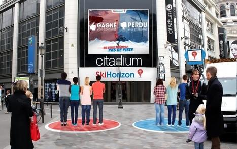 Paris : Ski Horizon installe une piste de ski interactive devant le Citadium   Tourisme   Scoop.it
