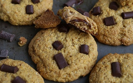 Chocolate Chip Peanut Butter Stuffed Cookies [Vegan] | My Vegan recipes | Scoop.it