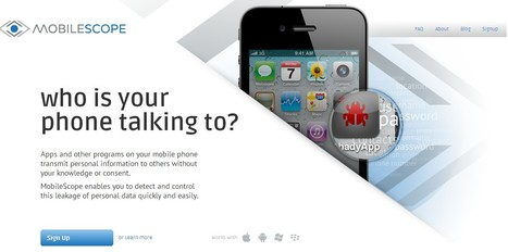 Who is your phone talking to? | ICT Security Tools | Scoop.it