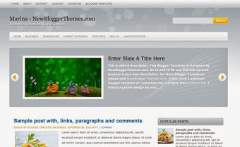 Free Blogger Themes: Free Marina Blogger Theme | Blogger themes | Scoop.it