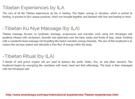 Spa Programmes India | Tibetan Spa Experience | Health and Fitness | Scoop.it