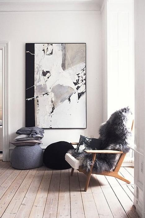 { Focus } Inspiration pour une déco en Noir & Blanc | décoration & déco | Scoop.it