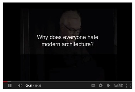 TEDx: Why does everyone hate modern architecture? / David Chipperfield | The Architecture of the City | Scoop.it