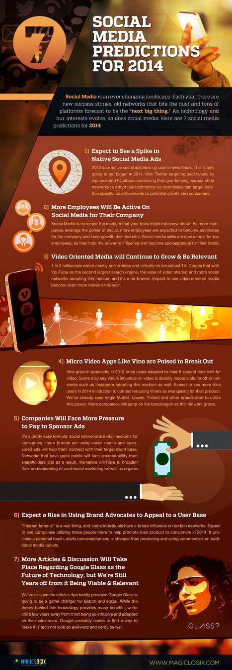 7 Social Media Predictions For 2014 [INFOGRAPHIC] | Digital Marketing B2C | Scoop.it