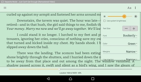 Do you want to use the Amazon Kindle app's green background? | Writing for Kindle | Scoop.it