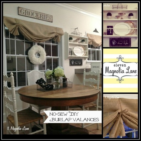 Tutorial: How to Make a No-Sew DIY Burlap Window Valance | | Homes and Dreams | Scoop.it