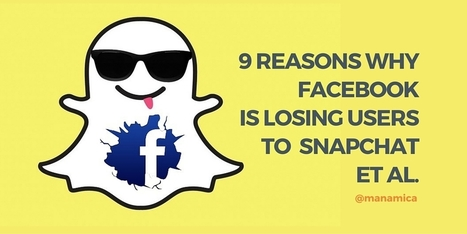 9 Reasons Facebook Is Loosing to ShapChat | Facebook for Business Marketing | Scoop.it