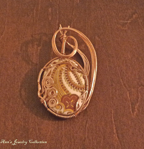 Vintage 1960's  Copper Wire Wrapped Pendant | Ann's Jewelry Collection | Scoop.it