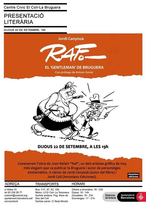 Raf, el gentleman de Bruguera | Plaça Lesseps | Scoop.it