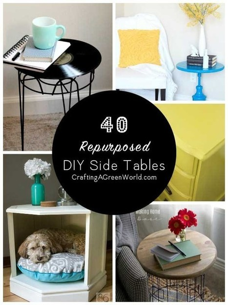 30 DIY Side Table Ideas: Reduce, Reuse, Redecorate! - Crafting A Green World | Arts & Crafts | Scoop.it