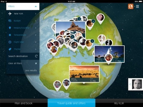3D global destination mapping shines at center of KLM's first iPad app | Travelled | Scoop.it