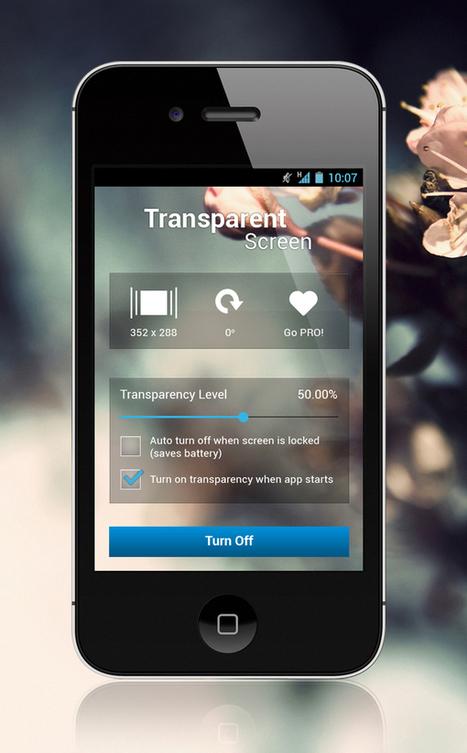 Transparent Screen App : User Interface Design | CreativeLayers | App Store Marketing ASO | Scoop.it