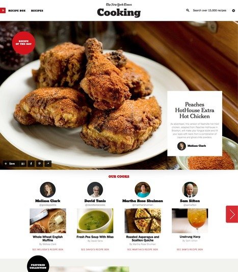 Discover, Organize And Save Your Trusted Recipes Into Collections With The New York Times Cooking | Social Media Content Curation | Scoop.it