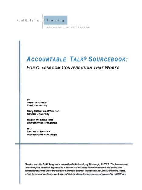 Accountable Talk Sourcebook | Kindergarten | Scoop.it
