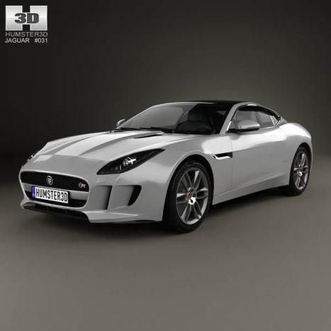 3D model of Jaguar F-Type R coupe 2014   3D models   Scoop.it