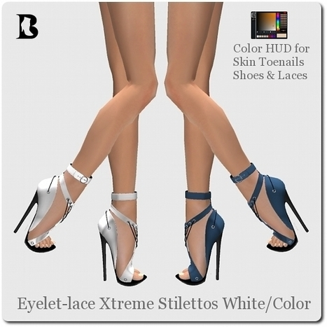 Eyelet-lace Xtreme Stilettos White by Vlad Blackburn | Teleport Hub - Second Life Freebies | Second Life Freebies | Scoop.it