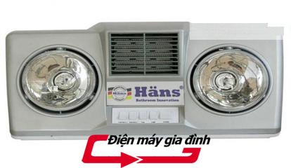 Đèn sưởi nhà tắm HANS 2 bóng thổi gió nóng | thammyvien | Scoop.it