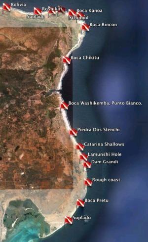 Bonaire's East Coast, Underwater Archeology, Shipwrecks, from Boca Spelonk to DamGrandi. | Under Water | Scoop.it