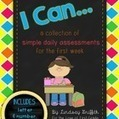 I Can... {Simple Daily Assessments for the First Week} | Online Resources (Classroom) | Scoop.it