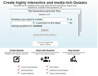 Create Quizzes with Learnclick to ask Questions in Context | E-learning, Blended learning, Apps en Tools in het Onderwijs | Scoop.it
