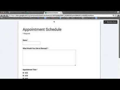 Scheduling Appointments with Google Forms | Jewish Education Around the World | Scoop.it