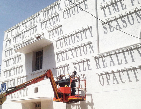 DAKU's typographic sundial in india generates ever-changing graffiti | Graphic design & Visual communication | Scoop.it