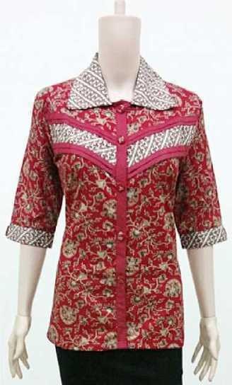 Blus Batik Rosela Merah BW799 | Toko Online Batik Ganitri | mischaYY | Scoop.it