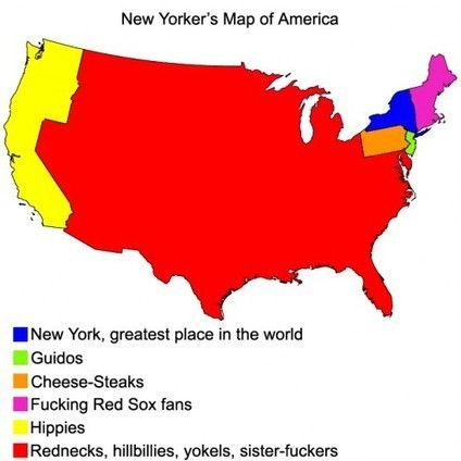 New Yorker's Map of America | Epic pics | Scoop.it