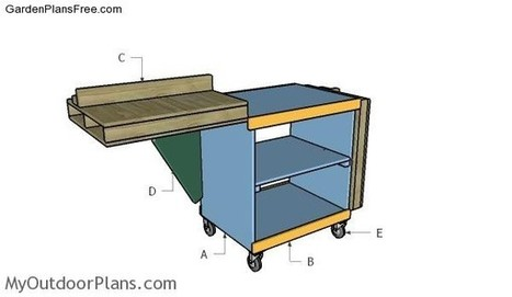 DIY Miter Saw Folding Table | Free Garden Plans - How to build garden projects | Garden Plans | Scoop.it