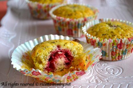 Muffin ai lamponi e semi di papavero Bimby | Ricette Bimby | Scoop.it