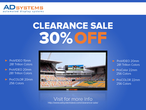 ADsystems slashed Prices up to 30% on Clearance items!   Benefits of Digital Billboards?   Scoop.it