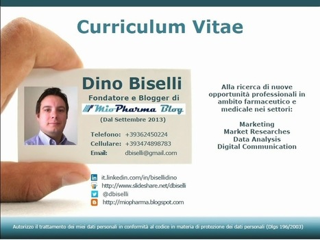 About Me | Curriculum Vitae di Dino Biselli | Scoop.it