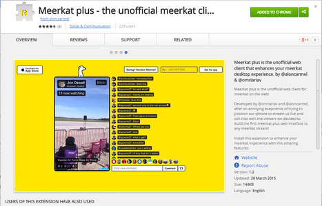 New #meerkat Plus that enhances your meerkat desktop experience | MarketingHits | Scoop.it