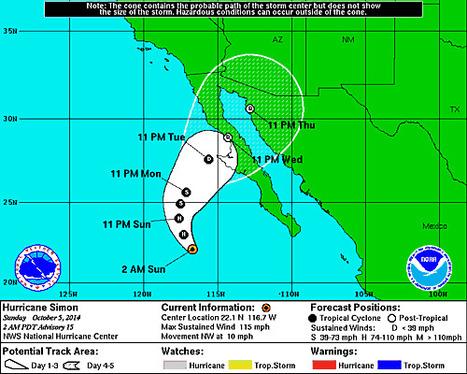 Hurricane Simon Intensifies Off Mexico's Coast   Cabo San Lucas   Scoop.it